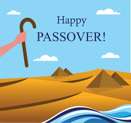 cheops: happy Passover- Out of the Jews from Egypt Illustration