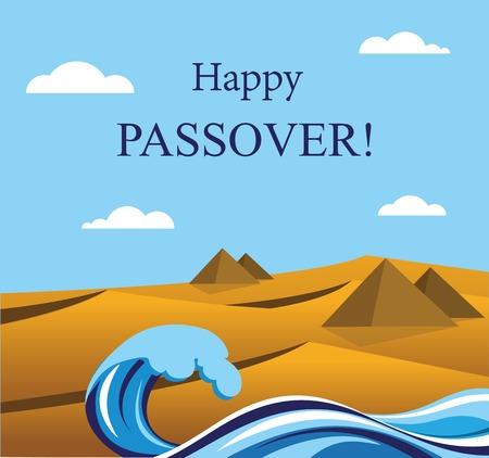 幸せな過越の祭り-のうちエジプトのユダヤ人の休日からのユダヤ人  イラスト・ベクター素材