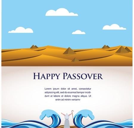happy Passover- Out van de Joden uit Egypte illustratie