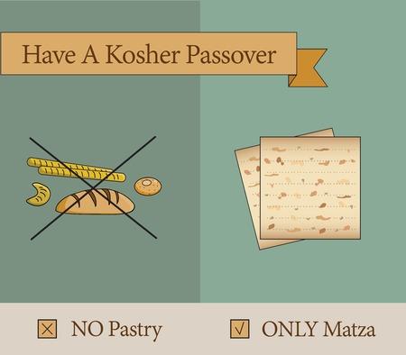 matza: have a kosher passover holiday  pastery vs matza