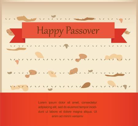 pesach: passover invitation on matzoh background. vector illustration