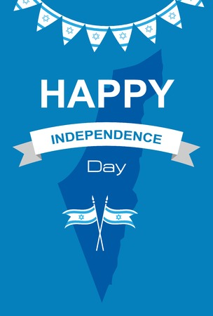 flag of israel: Happy independence day of Israel. vector  illustration