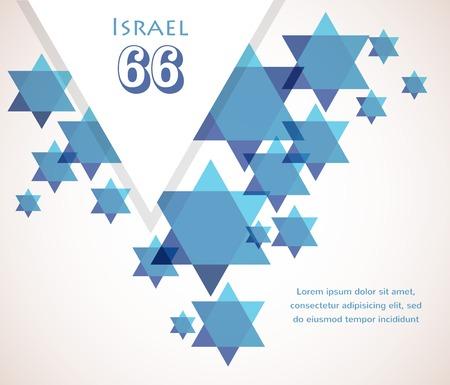 Independence day of Israel. David star background. illustration