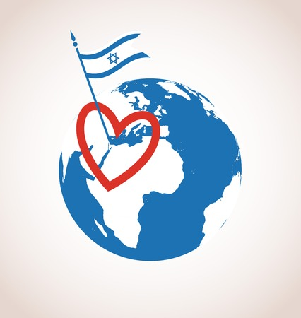 realist: I love Israel. happy independence day. illustration