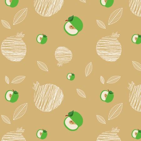 rosh hashana: illustration of Rosh Hashanah background with pomegranates and apples illustration