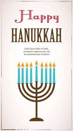 jewish holiday: Happy Hanukkah greeting card design, jewish holiday.