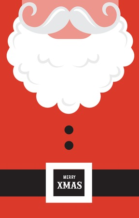 Santa Claus fashion  silhouette hipster style. Greeting card Vector