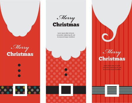 three tags of fashion  silhouette hipster style Santa Claus Vector