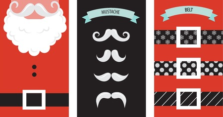 Santa Claus Fashion Silhouette Hipster Style Greeting Card Royalty