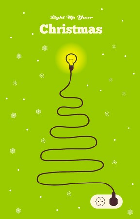 creates: electrical wire creates  a Christmas tree. Save the trees