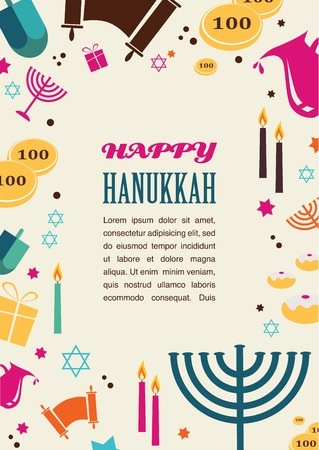 dreidel: Vector illustrations of famous symbols for the Jewish Holiday  Hanukkah