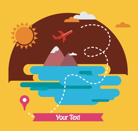 summer holidays,  travel around the world. illustration 일러스트