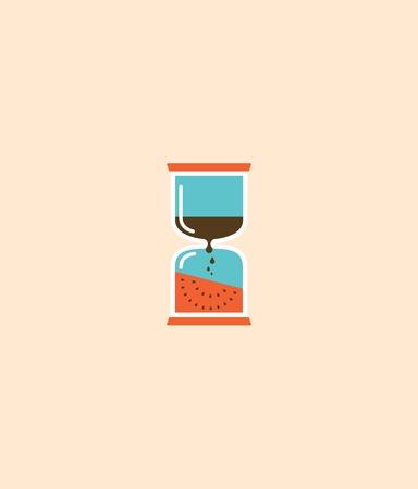 sand clock: reloj de arena abstracto, tiempo de verano. ilustraci�n vectorial
