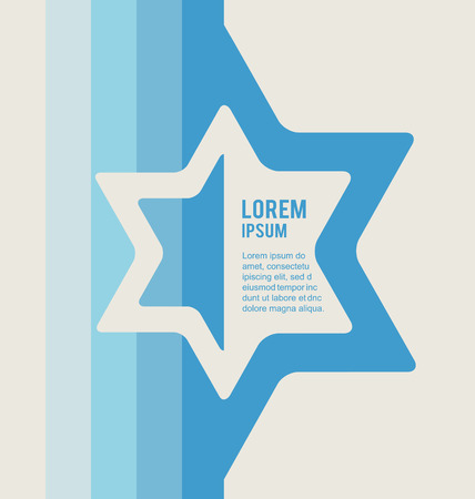 estrella de david: póster de signo judío de la estrella de david con lugar para el texto. ilustración