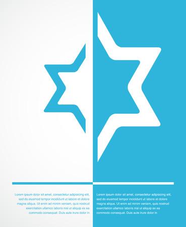 chassidim: manifesto di segno ebrea stella con il posto per il testo. illustrazione