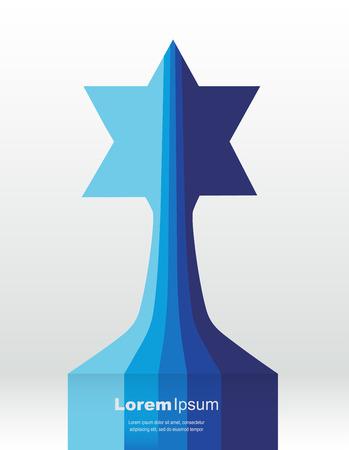 info bars creating david star. abstract  vecor illustration