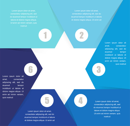 david star: David Star design  template and infographics, abstract background Illustration