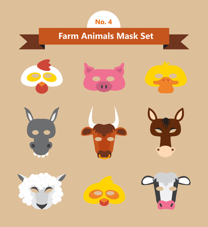 purim mask: set of animal masks for costume  Party