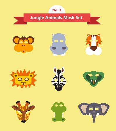 oido: conjunto de máscaras de animales para la fiesta de disfraces
