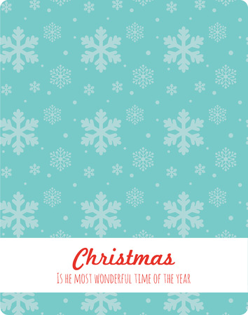 silver background: Christmas snowflakes background. christmas is the most wonderful tme of the year Illustration