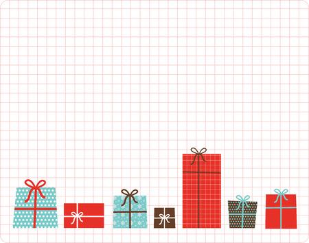 christmas present box: christmas and new  year present box set
