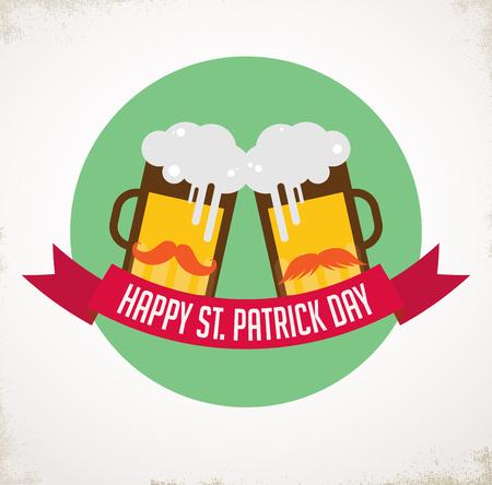 illustration invitation: St. Patricks day pub and party invitation. ILLUSTRATION Illustration