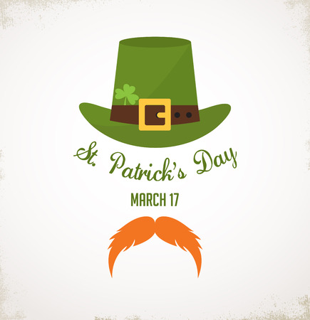 four leafed: Saint Patricks Day Typographical Background. invitation or card