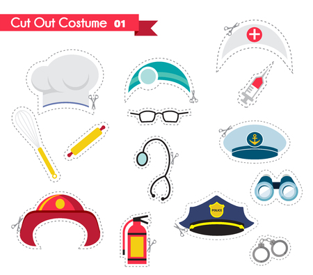 party hats: accessories  for different proffestions. costumes for parties and photobooth