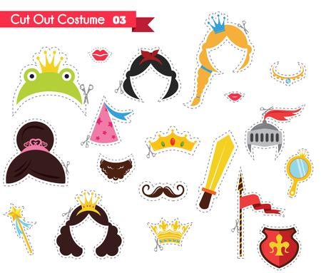Papier Schneiden Für Kinder Mit Kostüm Zubehör Aus. Kann Als ...
