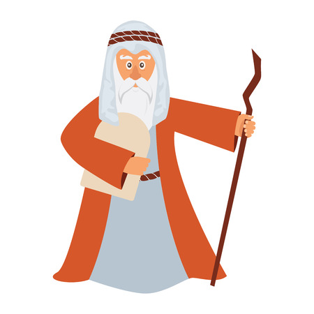 passover: Vector illustration of Moses standing for Passover. vector illustration Illustration