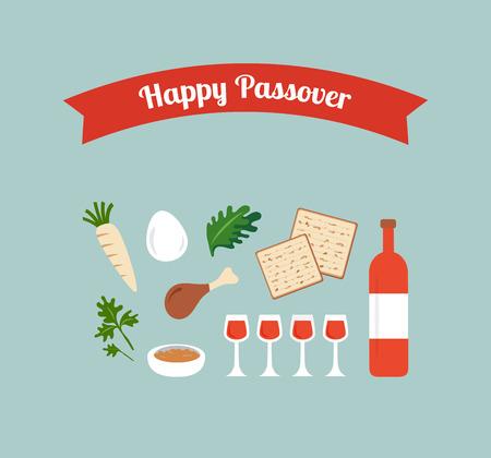 matzoh: Passover seder flat icons . happy Jewish holiday Pesach