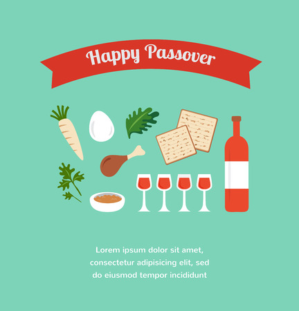 seder: Passover seder flat icons . happy Jewish holiday Pesach