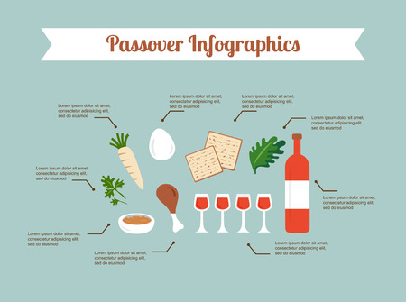 passover: Passover seder flat icons . happy Jewish holiday Pesach