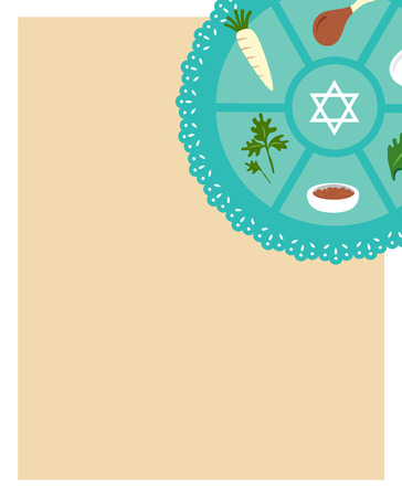 pesach: Passover seder flat icons . happy Jewish holiday Pesach