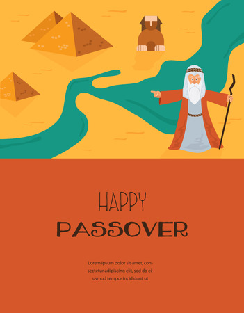 jews: Abstract background -  out of the Jews from Egypt. vector and illustration