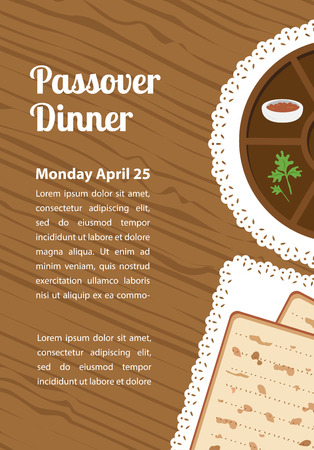 seder plate: Passover  dinner , seder pesach. table with passover plate and traditional food