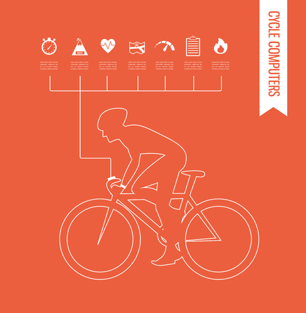 transportation icons: gps computers and  apps for bike and cycling . infographics