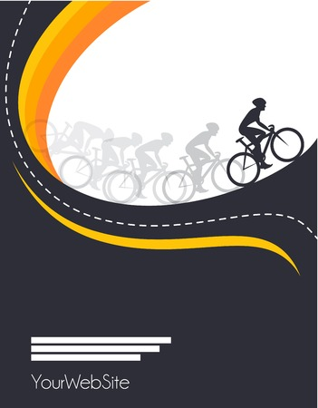 road bike: Vector bicycle race  event poster design template