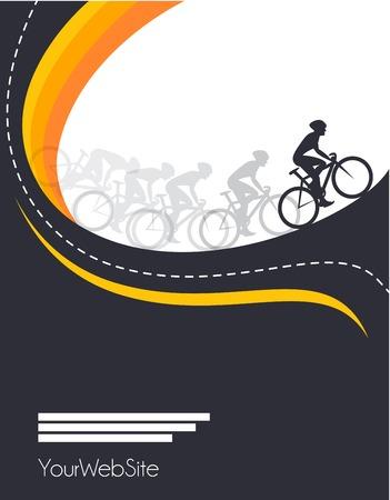 Wektor wyścig rowerowy plakat wydarzenie wzór szablonu Ilustracje wektorowe