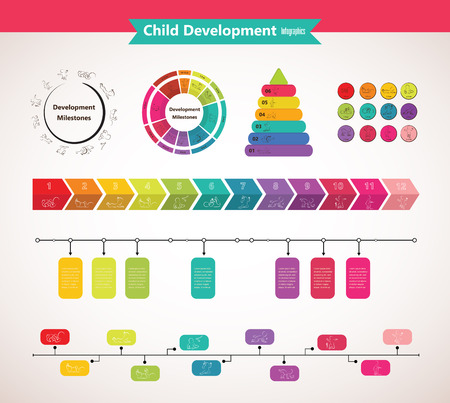 Vector children pyramid for infographic. child development.