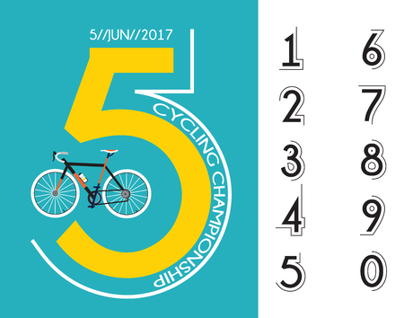 cycling race: cycling race poster design with different numbers for your design