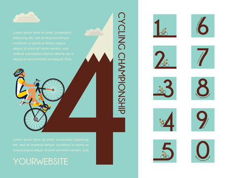 range of motion: cycling race poster design with different numbers for your design