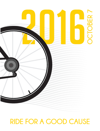 charity drive: cycling race poster design .  ride for a good cause Illustration