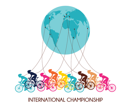 mount price: international cycling race. colorful abstract poster  design