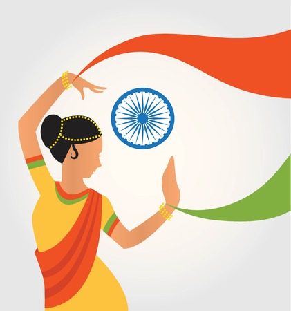bharatanatyam: illustration of colourful culture of India with different form of classical dance. illustration Illustration