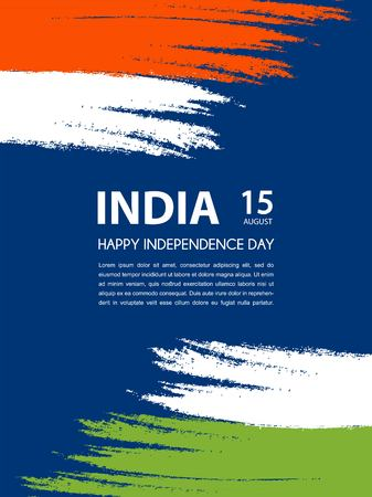 15th: Indian Independence Day. 15th of august. vecor illustration
