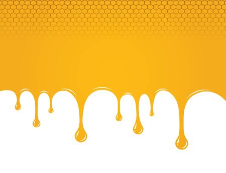 Dripping sweet honey. vector illustration and background