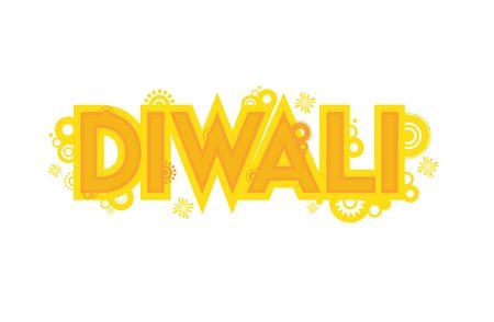 deepawali backdrop: vector card design for Diwali festival , Indian holiday. illustration