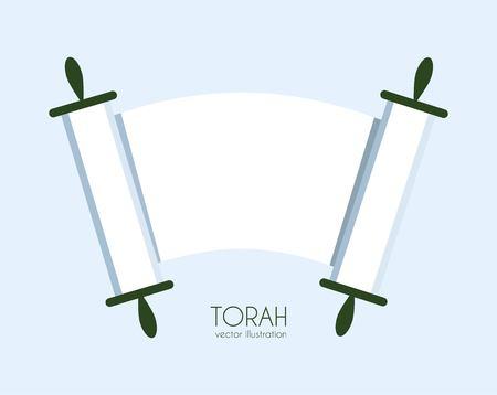 torah scroll: Jewish Torah scroll icon. isolated vector illustration Illustration
