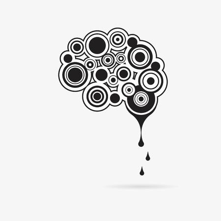 creative brain: Creative mind - business vector logo template concept illustration. Abstract human brain sign.